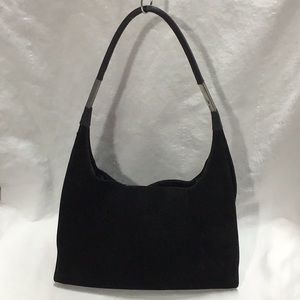 Authentic Vintage GUCCI Black Suede Handbag